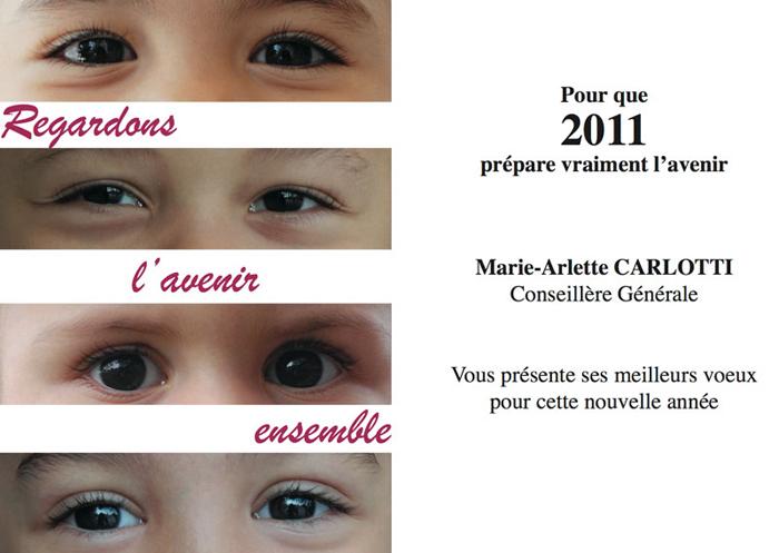Marie-Arlette Carlotti vous présente ses meilleurs voeux pour cette nouvelle année - 2011