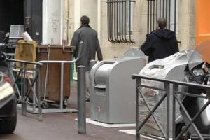 conteneur MPM / centre ville de Marseille
