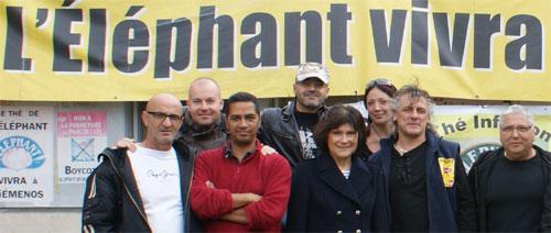 Marie-Arlette Carlotti entourée des salariés de Fralib -19 novembre 2011, Gémenos (13)